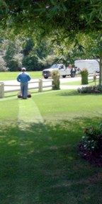 Mowing Grass in North Atlanta, Georgia